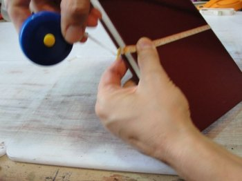 Кожаный переплет с рисунком