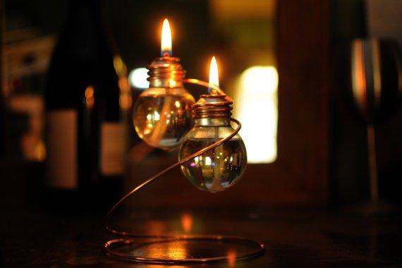 Как сделать масляную лампу