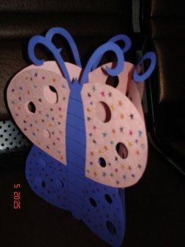 Светильник в форме бабочки своими руками