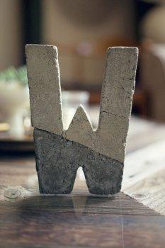 Буквы из бетона