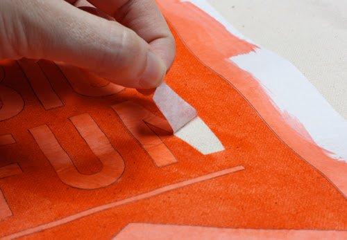 Как перенести цветной рисунок на сумку