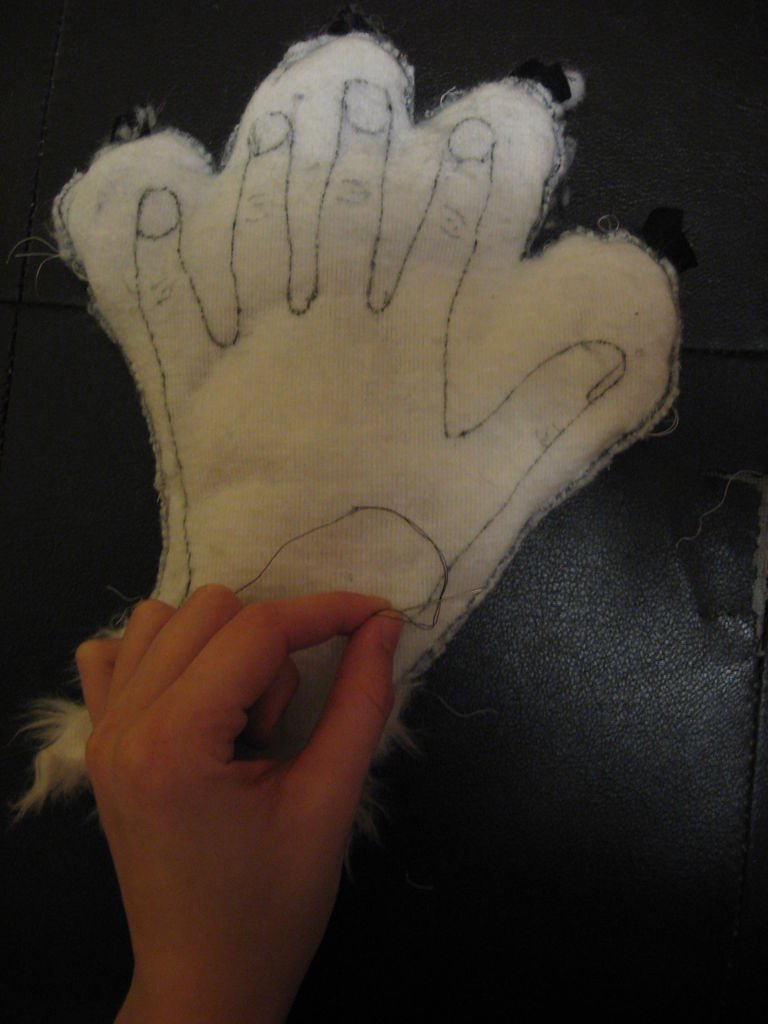 Кошачьи варежки своими руками