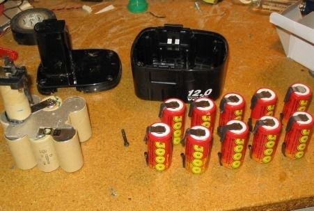 Замена аккумуляторов у шуруповерта