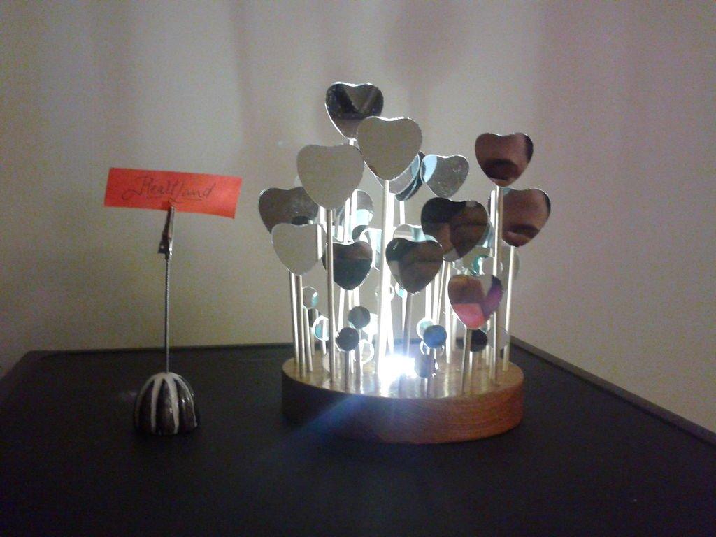 Декоративная лампа ко Дню святого Валентина