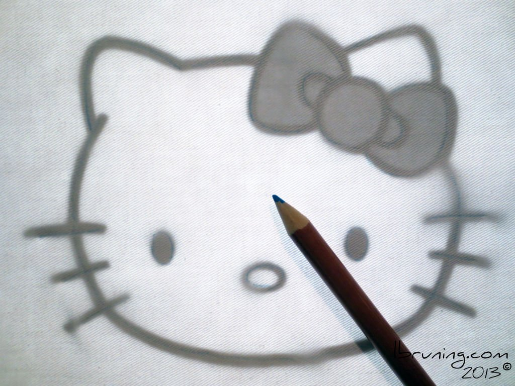 Как сделать валентинку в стиле Hello Kitty