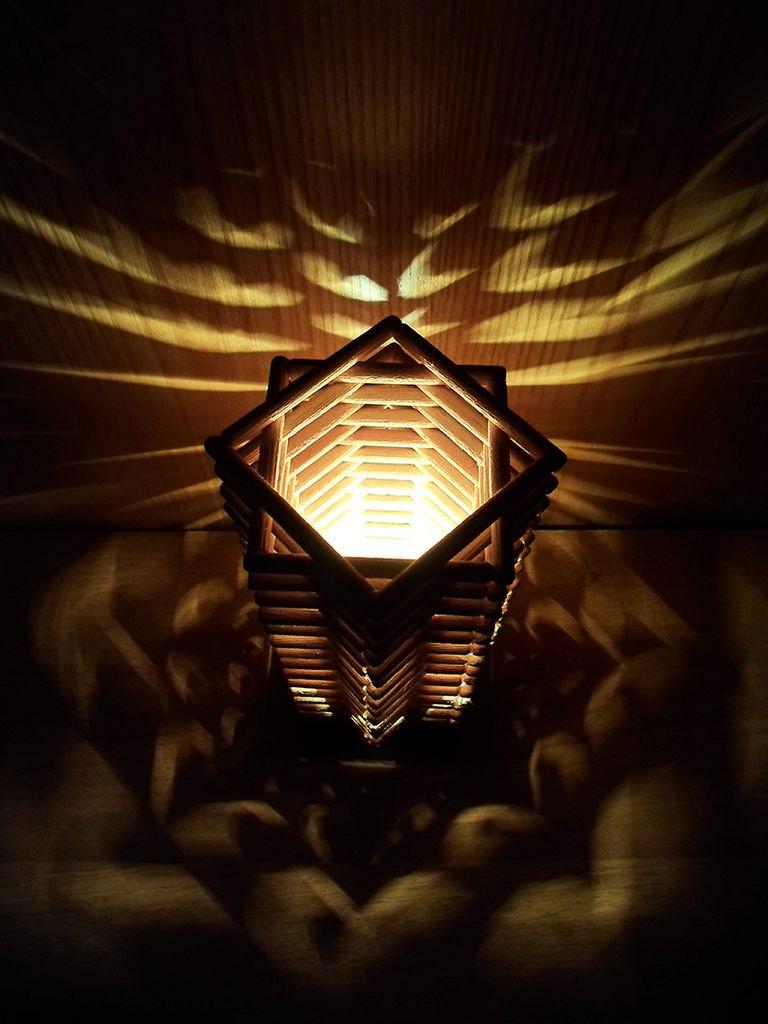 Декоративная лампа небоскреб своими руками