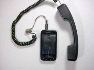 Как подключить телефонную трубку к мобильному телефону