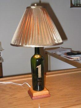 Как сделать лампу из бутылки