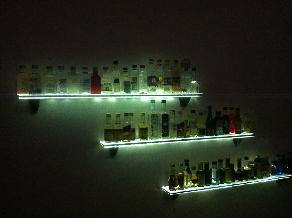 Барные полки со светодиодной подсветкой своими руками