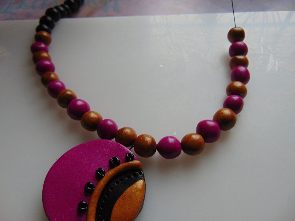 Набор бижутерии в индийском стиле из полимерной глины