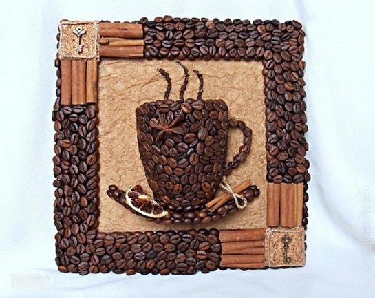 Настенное панно объемная чашка кофе