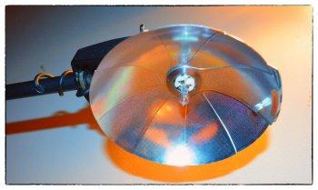 Винтажная лампа из вспышки своими руками