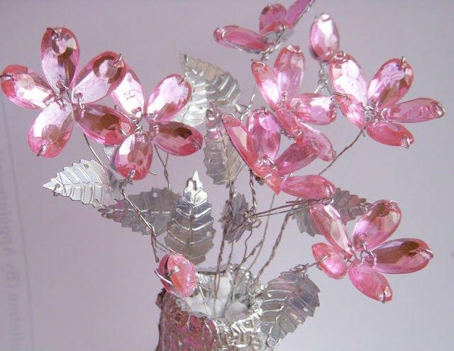 Букет хрустальных цветов своими руками