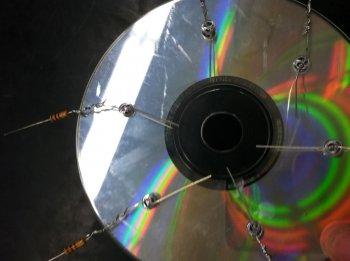 Светильник из CD-дисков