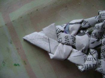 Пуансеттия из бумаги