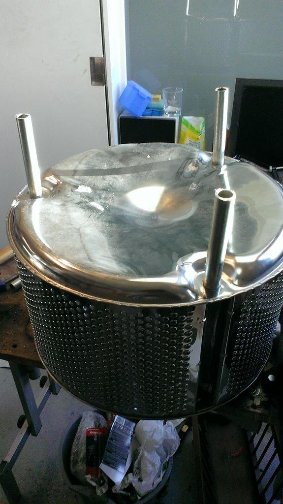 Самодельный очаг из барабана стиральной машины