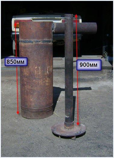 Печь длительного горения из газового баллона