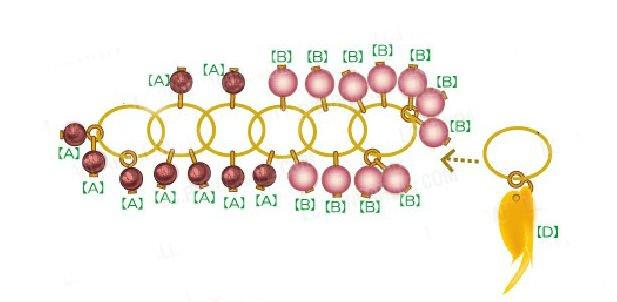 Сережки «Виноград» из бисера