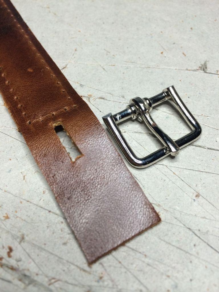 Кожаный ремешок для часов своими руками