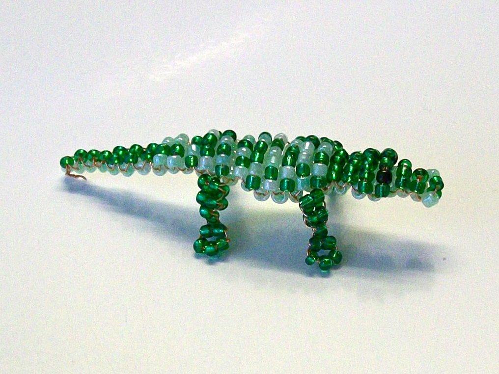 Крокодил из бисера своими руками