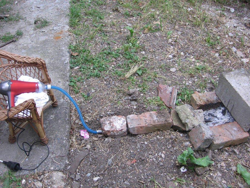 Самодельный фен для раздувания огня