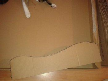 Кровать-когтеточка для кота своими руками