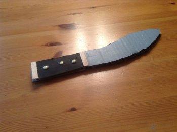 Картонный пиратский нож своими руками
