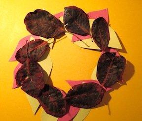 Гирлянды и венок из осенних листьев своими руками