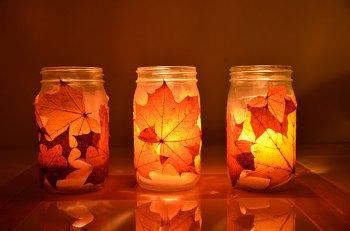 Осенние подсвечники своими руками