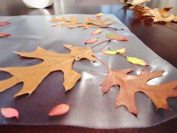 Осенняя скатерть на стол своими руками