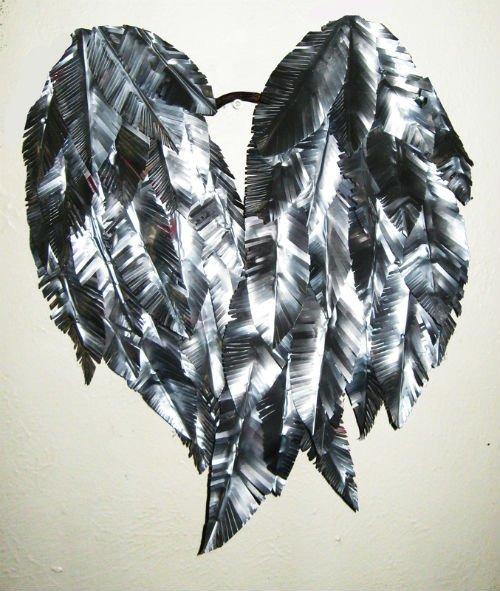 Крылья ангела из алюминиевых банок своими руками