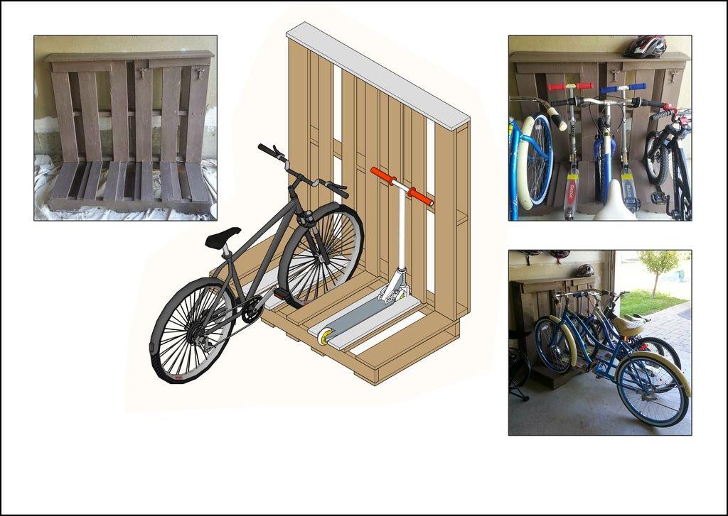 Самодельная стойка для велосипедов из поддона