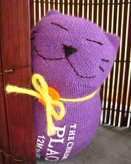Кот игрушка из носка своими руками