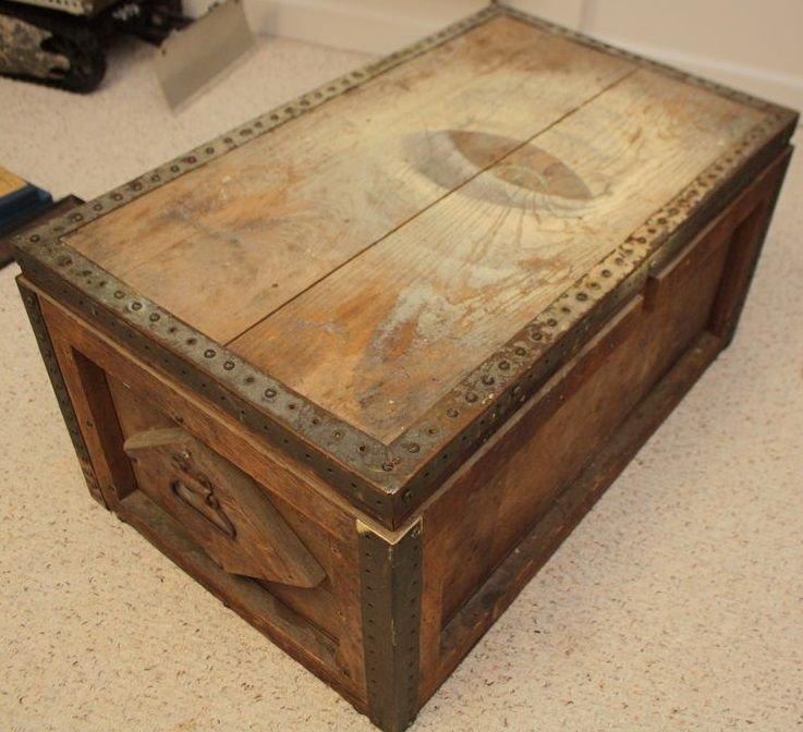 Журнальный столик в виде старого сундука своими руками