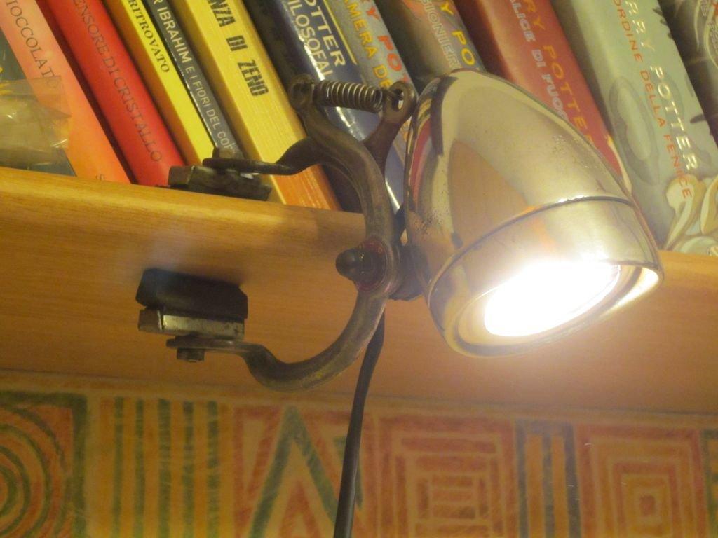 Лампа из фары от велосипеда своими руками
