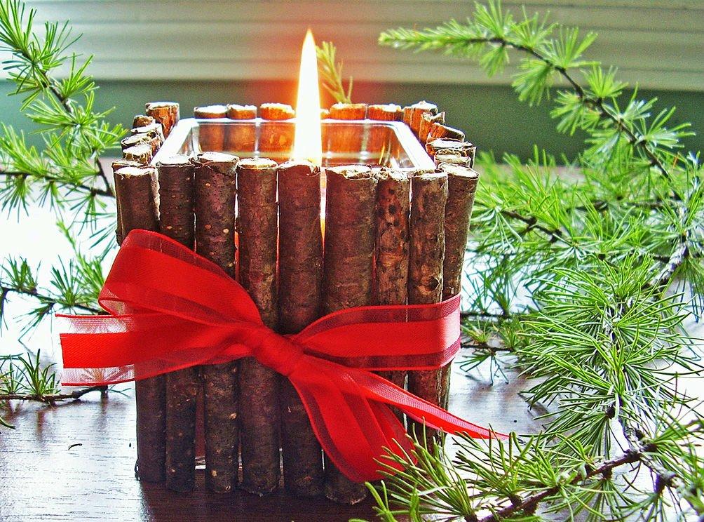 Новогодние свечи своими руками. Четыре мастер класса