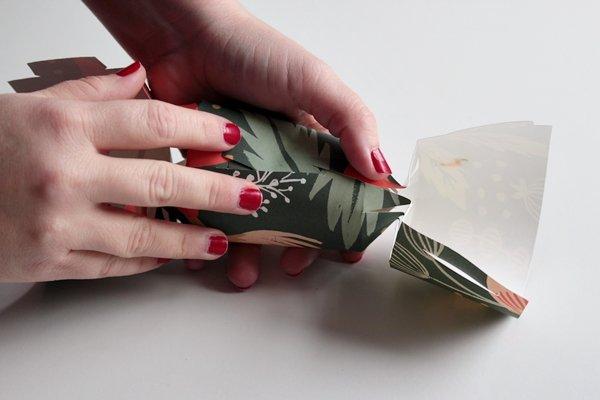 Новогодняя конфета с подарком на елку своими руками