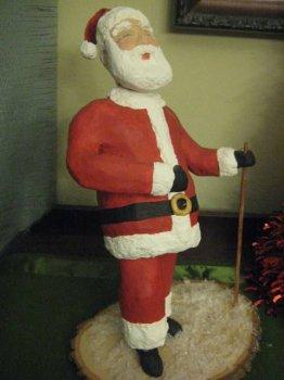 Дед Мороз в технике папье-маше