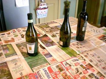 Новогодние бутылки своими руками