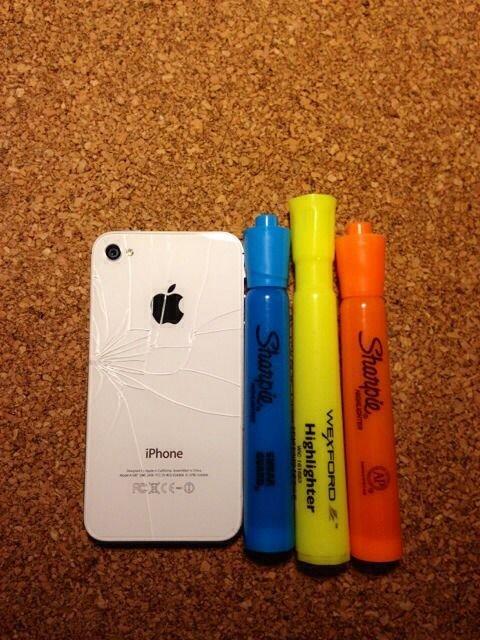 Декор разбитого iPhone своими руками