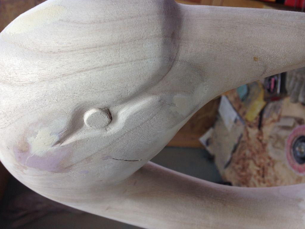 Лебедь из дерева своими руками