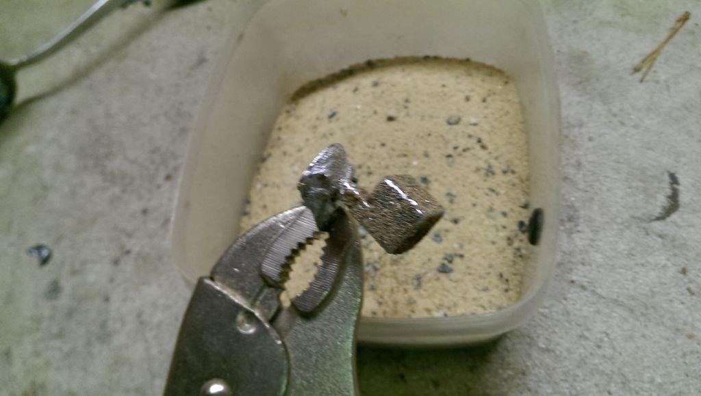 Металлическая игральная кость своими руками