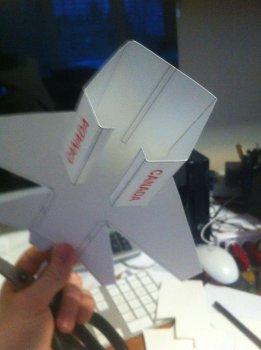 МиГ 25 из бумаги своими руками