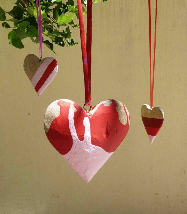 Декоративные деревянные сердца своими руками