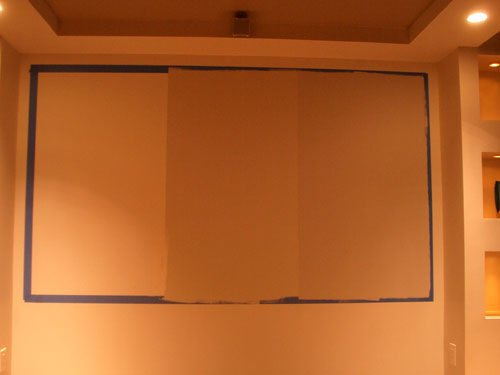 Экран домашнего кинотеатра своими руками