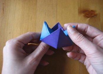 Подставка-оригами для яйца из бумаги своими руками