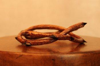 Резной браслет из дерева своими руками