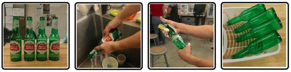 Обувная полка из пивных бутылок своими руками