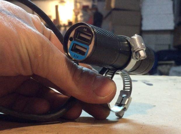 Водонепроницаемый футляр для мотоциклетной USB-зарядки