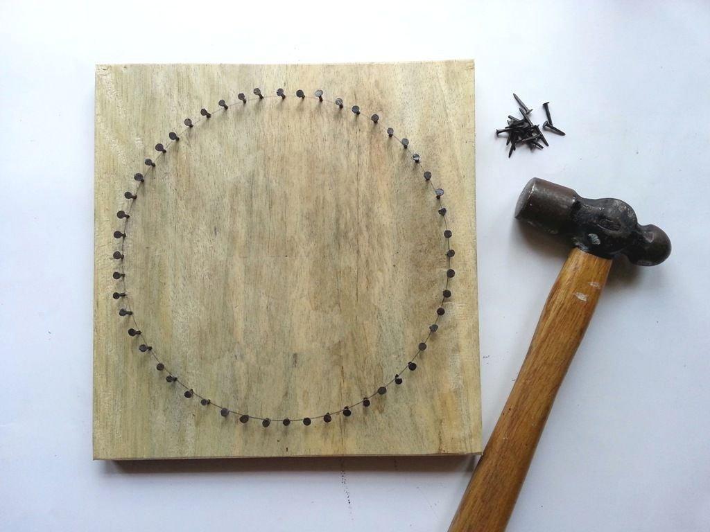 Объемное панно из ниток своими руками